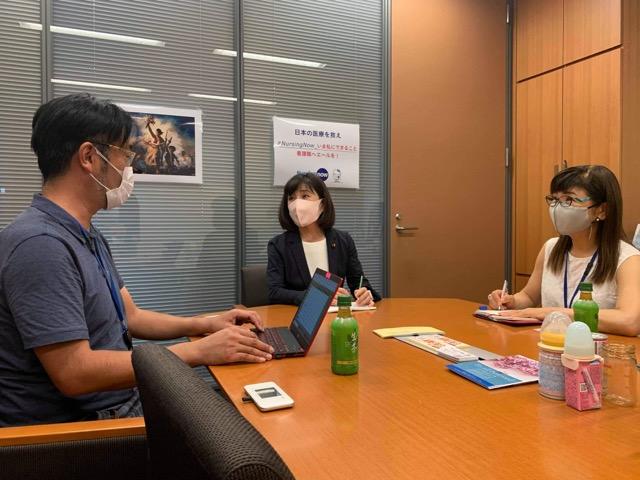 木村やよい議員と打ち合わせを行いました。