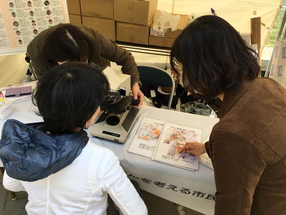癌細胞を探すワークショップを開催中!