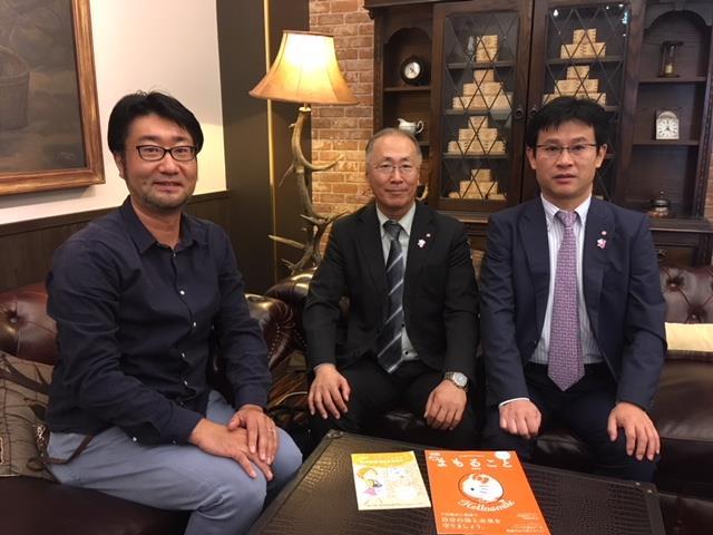 大丸松坂屋百貨店CSR御担当の前田紀様・伊藤友博様が弊会に訪問していただきました。